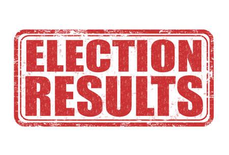 electorate: Election results grunge rubber stamp on white backround, vector illustration Illustration