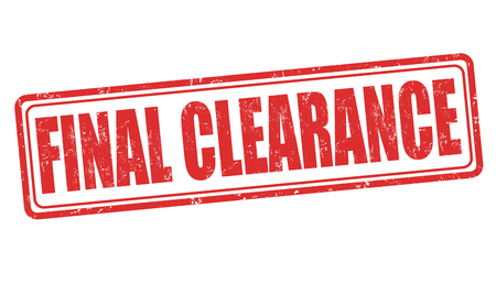 cost reduction: Final clearance grunge rubber stamp on white background, vector illustration