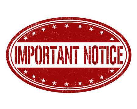 considerable: Important notice grunge rubber stamp on white background, vector Illustration