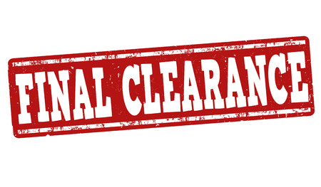 closing: Final clearance grunge rubber stamp on white background, vector illustration