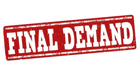demand: Final demand grunge rubber stamp on white background, vector illustration Illustration