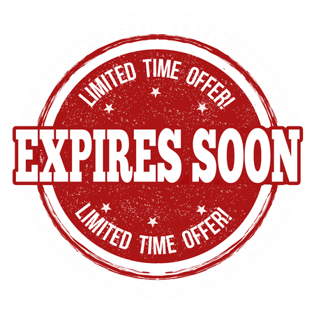 no rush: Expires soon grunge rubber stamp on white background, vector illustration