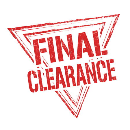 final: Final clearance grunge rubber stamp on white background, vector illustration