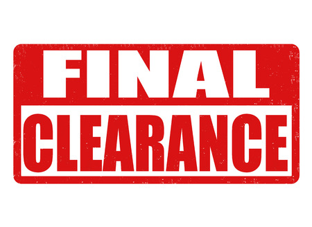 advertised: Final clearance grunge rubber stamp on white background, vector illustration