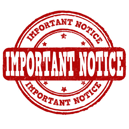 important notice: Important notice grunge rubber stamp on white background, vector Illustration