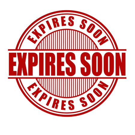 expire: Expires soon grunge rubber stamp on white background, vector illustration