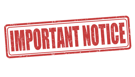 Importante grunge sello de goma aviso sobre fondo blanco, vector Ilustración de vector