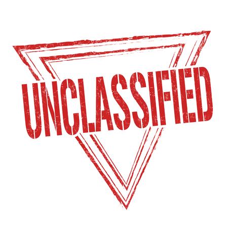 Unclassified grunge rubber stamp on white background, vector illustration Illustration
