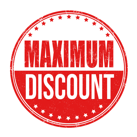 abatement: Maximum discount grunge rubber stamp on white background, vector illustration