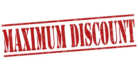 abatement: Maximum discount grunge rubber stamp on white background, vector illustration