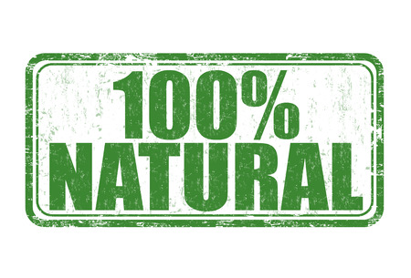 hundred: 100% natural grunge rubber stamp on white background, vector illustration