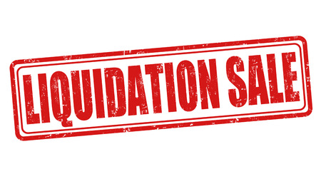 liquidation: Liquidation sale grunge rubber stamp on white background, vector illustration Illustration
