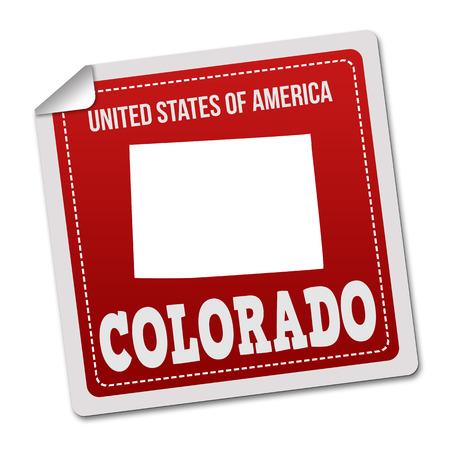 identifier: Colorado  sticker or label on white background, vector illustration