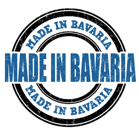 Made in Bavaria blue vintage grunge stamp on white background. Bavaria stamp. Bavaria seal 일러스트
