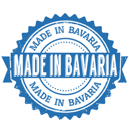 Made in Bavaria blue vintage grunge stamp on white background. Bavaria stamp. Bavaria seal  イラスト・ベクター素材