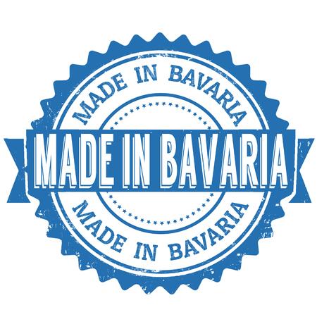 Hecho en Baviera azul del sello del grunge de la vendimia en el fondo blanco. sello de Baviera. sello de Baviera Ilustración de vector