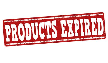 expired: Products expired grunge rubber stamp on white background, vector illustration