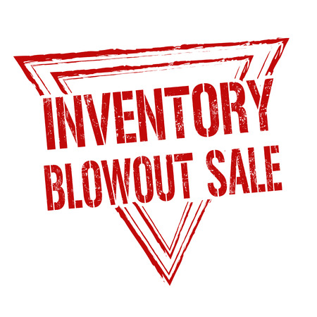 Inventory blowout sale grunge rubber stamp on white background