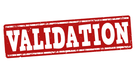 validation: Validation grunge rubber stamp on white background, vector illustration