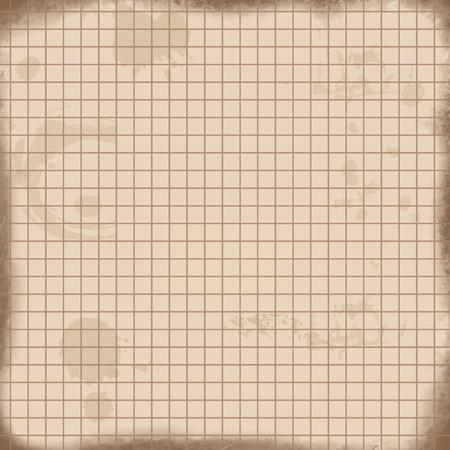 matematica: matemáticas textura del papel de fondo de la vendimia. Hoja de cuaderno de ejercicios para matemáticas en estilo retro, ilustración vectorial Vectores