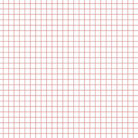 math paper: Math paper with red squares texture background. Sheet of exercise book for math, vector illustration Illustration