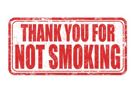白い背景に喫煙グランジ スタンプありがとうございます、ベクトル イラスト