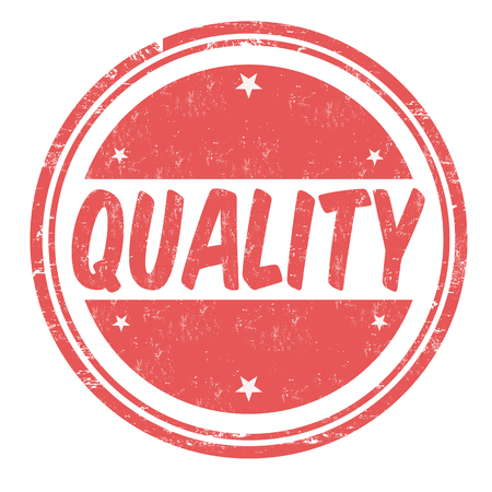 poststempel: Qualität Grunge-Stempel auf weißem Hintergrund, Vektor-Illustration Illustration