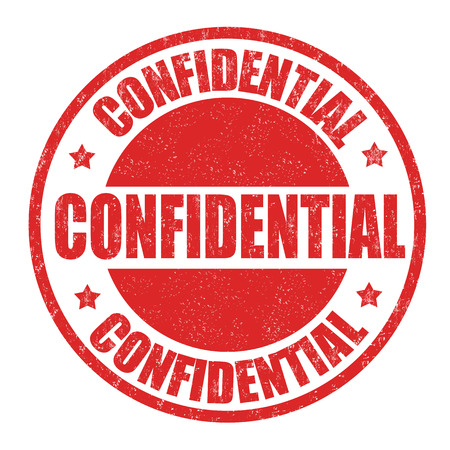 Confidential grunge rubber stamp on white background, vector illustration