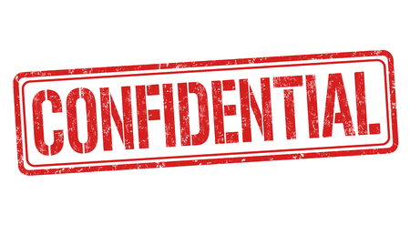 confidentiality: Confidential grunge rubber stamp on white background, vector illustration