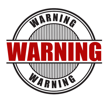 cautious: Warning grunge rubber stamp on white background, vector illustration Illustration
