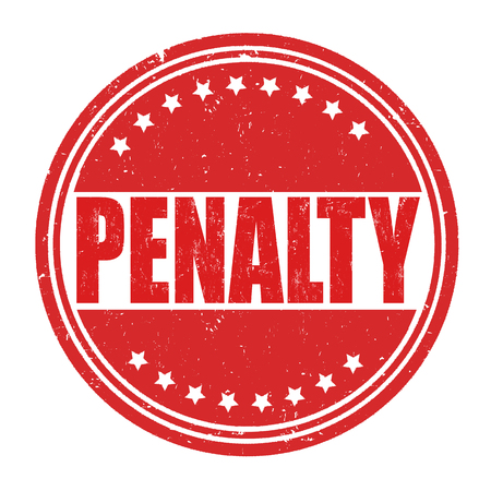 penalty: Penalty grunge rubber stamp on white background, vector illustration