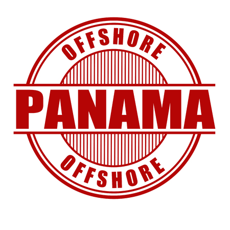 law of panama: Panama offshore grunge rubber stamp on white background, vector illustration