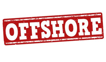 Offshore grunge rubber stamp on white background, vector illustration