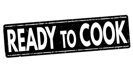 ready cooked: Ready to cook grunge rubber stamp on white, vector illustration