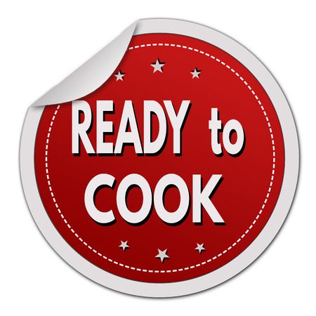 made to order: Ready to cook sticker on white background, vector illustration