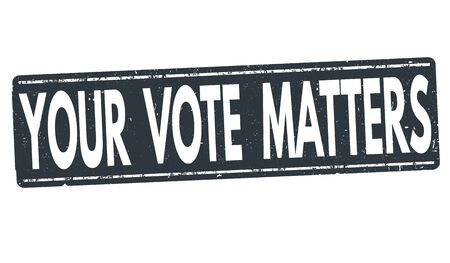 Your Vote Matters grunge rubber stamp on white background, vector illustration 向量圖像