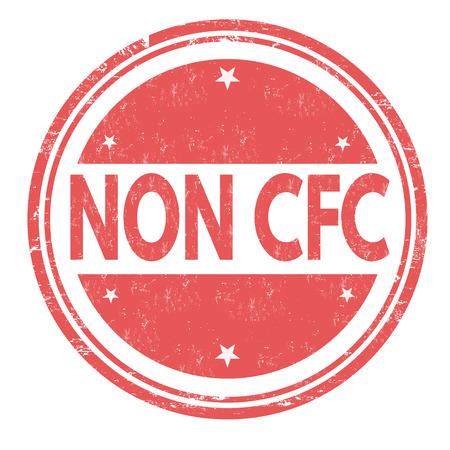 cfc: Non CFC product grunge rubber stamp on white background, illustration Illustration