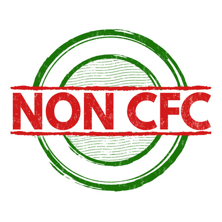 Non CFC product grunge rubber stamp on white background, illustration Illustration