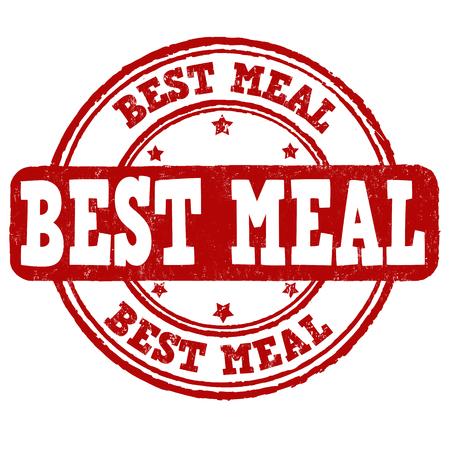 comida rica: El mejor sello de goma del grunge de la comida en el fondo blanco, ilustración