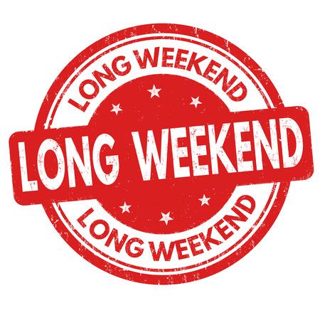 long weekend: Long weekend grunge rubber stamp on white background, vector illustration Illustration