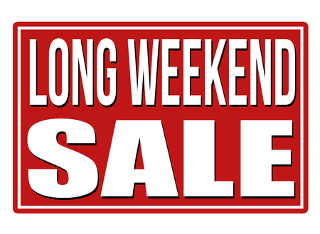 long weekend: Long weekend red sign isolated on a white background, vector illustration Illustration