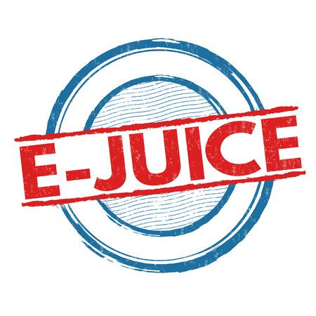 vapour: Vapor e-juice grunge rubber stamp on white background, vector illustration