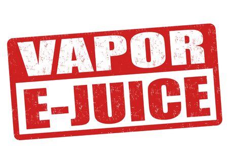 eliquid: Vapor e-juice grunge rubber stamp on white background, vector illustration