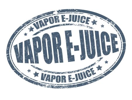 e cigarette: Vapor e-juice grunge rubber stamp on white background, vector illustration