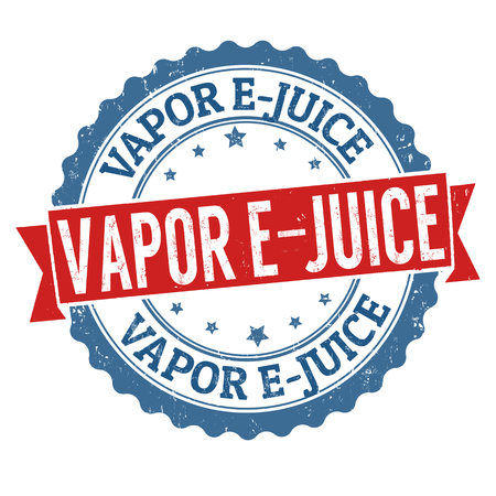 background e cigarette: Vapor e-juice grunge rubber stamp on white background, vector illustration
