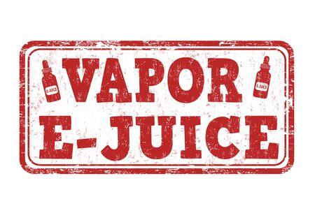 e liquid: Vapor e-juice grunge rubber stamp on white background, vector illustration
