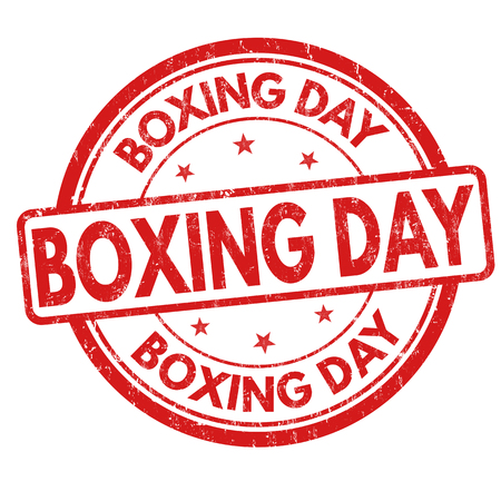 boxing day sale: Boxing day grunge rubber stamp on white background