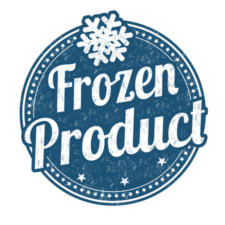 sale sticker: Frozen product grunge rubber stamp on white background Illustration