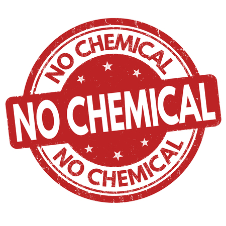 non toxic: No chemical grunge rubber stamp on white background, vector illustration