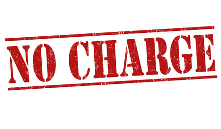 No charge grunge rubber stamp on white background, vector illustration